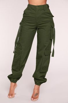 Obey My Commands Cargo Pants - Olive – Fashion Nova Cargo Pants Outfit, Cargo Pants Women, Pants For Women, African Wear, African Fashion, Fashion Women, Classy Outfits, Casual Outfits, Fashion Pants