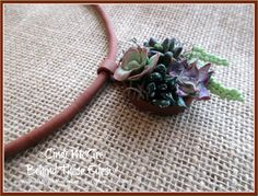 Makin's Clay® Blog: Mini Succulent Pendant - Polymer Clay Adventure by Cindi McGee