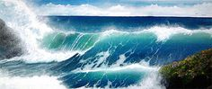 Paintings of Waves Crashing | ... Art of Alan Minshull: A Gallery of Realistic Acrylic Nature Paintings