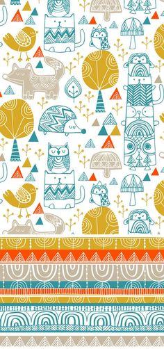 wendy kendall designs – freelance surface pattern designer » teepee town: