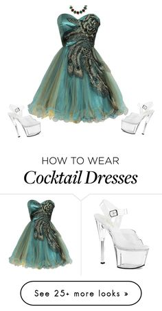 """Peacock mystical seduction in the garden"" by brooklynbeatz on Polyvore featuring Pleaser, Eshvi, peacock and platformheels"