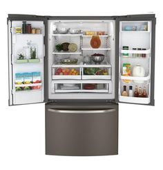 GFE27GMDES | GE® ENERGY STAR® 26.7 Cu. Ft. French-Door Ice & Water Refrigerator | GE Appliances