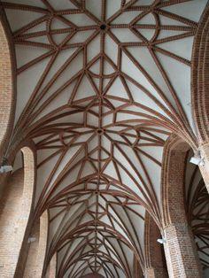 Gdansk, Poland: St Bridget's Church ceiling