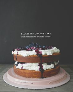 ORANGE BLUEBERRY CAKE - from Claire Thomas of The Kitchy Kitchen