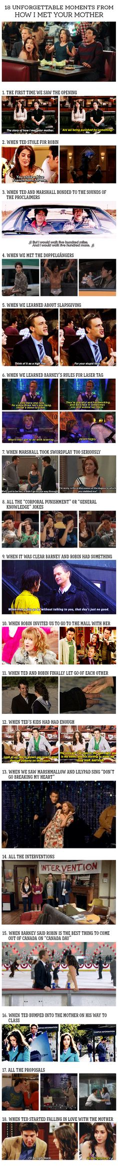 "18 Unforgettable Moments From ""How I Met Your Mother"" 18 Unforgettable Moments from HIMYM Best Tv Shows, Best Shows Ever, I Meet You, Told You So, Himym Memes, How Met Your Mother, Ted Mosby, Yellow Umbrella, Tv Quotes"