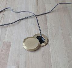 Izabella's Floor Outlet in her Living Room I Remodelista