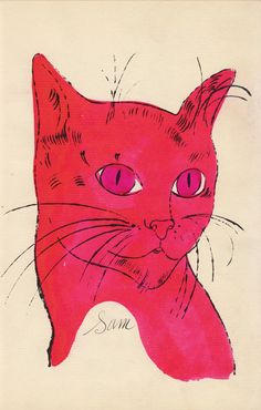 Cat Drawing by Andy Warhol