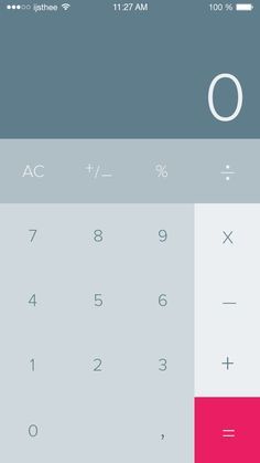 #DailyUI #Calculator