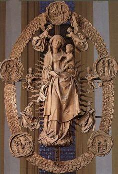 Volkach, Germany - Maria im weingarten - carved limewood sculpture by Tilman Riemanschneider