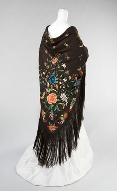 Shawl ca. 1885-1910 via The Costume Institute of The Metropolitan Museum of Art