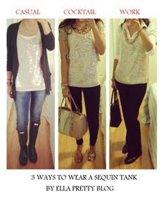 Ella Pretty: One Sequin Top - Styled 3 Ways