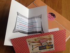 Retro sleepover invitation Complete with envelope stickers