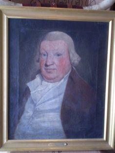 Antique Estate Find English Oil Painting on Canvas Portrait of Gentlemen | eBay