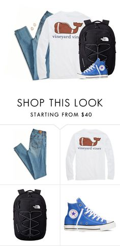 """""""the first time I saw you, my heart whispered """"that's the one"""""""" by kaley-ii ❤ liked on Polyvore featuring American Eagle Outfitters, The North Face, Converse and Carolyn Colby"""