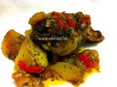 Friptura de porc si cartofi la cuptor Bistro Food, Chicken, Meat, Pork, Buffalo Chicken, Cubs, Rooster