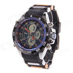 BESNEW BN-0798 Mens Multifunctional Dual Core Rubber Band Sport Wrist Watch (1 x SR626)