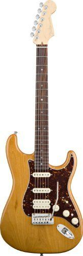 Fender American Deluxe Strat® HSS Electric Guitar, Amber, Rosewood Fretboard by Fender. $1699.99