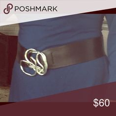 Black Lambskin Belt by OC Chic, fun and adjustable!  This quality black Lambskin Belt closes with just a twist of the Silvery loops. Change the look of your outfits, and wear it around your waist or at your hips. OC Accessories Belts