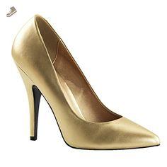 5 Inch Sexy High Heel Shoe Women's Dress Shoes Classic Pump Shoes Gold Size: 6 - Summitfashions pumps for women (*Amazon Partner-Link)