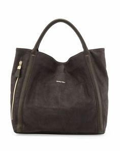 Harriett Leather Hobo Bag, Dark Gray - See by Chloe