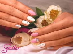 Special Day by Semilac : Semilac 001Strong White, 128 Pink Marshmallow, 144 Diamond Ring, Żel Expert White Cream Art, Art Brush N 00-1