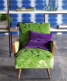 Little chairs are huge on possibilities. Designers Guild Merelli velvet in emerald