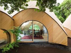 Teepee shaped retirement homes