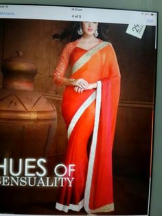 Shaded orange saree