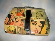 Comic Book Romance Upcycled Clutch Handbag Purse *** You can get more details by clicking on the image. #Handmadehandbags