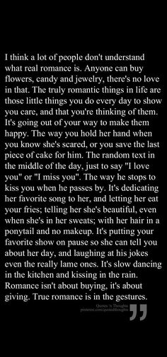 This is beautiful and absolutely true.... its all about making the most of the little moments that real life gives you.... thats whats gonna make it possible to stay together when real li