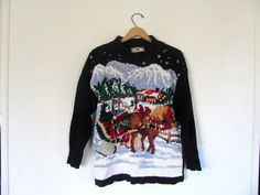 vintage ugly Christmas sweater // tacky by dirtybirdiesvintage, $30.00