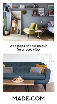 Stepping back in time is no bad thing when it comes to design. The retro look never goes out of style, it just gets new layers and a refresh which means that your vintage pieces match perfectly with your new. Go for bold oranges and geometric pattern and pair with walnut and sleek angles. There's nothing dated about this look.