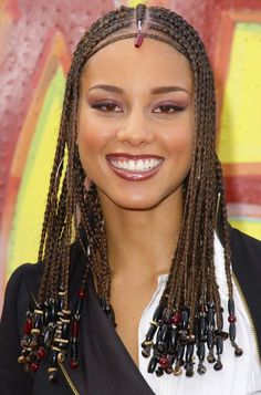 alicia keys braids with beads 2014 hairstyles | Alicia Keys Long Hair Braids