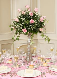 Beautiful light pink. This wedding centerpiece is so elegant and ladylike!
