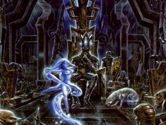 Lúthien and Morgoth | Luthien dancing in front of Morgoth's throne - Andreas Marschall