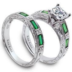 Kirk Kara Charlotte Green Tsavorite & Diamond Engagement Ring · SS6685TS-R · Ben Garelick Jewelers