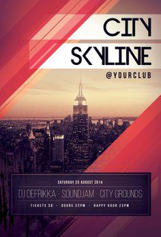 City Skyline Flyer by styleWish •, via Behance
