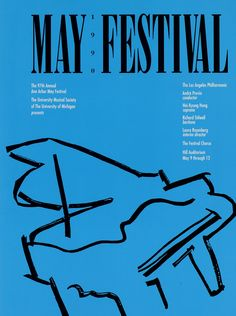 UMS Concert Program, May 9 To 12: May 1990 Festival -- | University Musical Society.  Sung Brahms Requiem with Andre Previn & LA Philharmonic