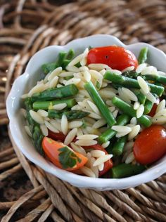 orzo with parmesan and asparagus