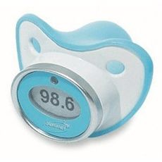 Digital Pacifier thermometers! Are you kidding me?? Awesome! This would save so many tears, on both ends!