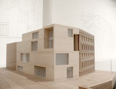 David Chipperfield, Am Kupfergraben 10, Gallery, Berlin, #architecturalmodel nice model, nicely detailed building