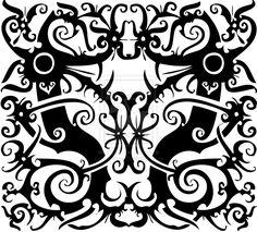 Tracing - Indonesian Dayak Pattern by art-rinay.deviantart.com on @deviantART