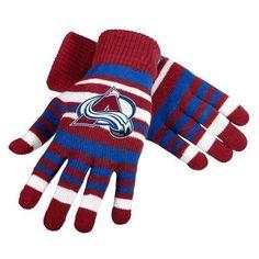 Colorado Avalanche NHL Hockey Team Logo Stretch Gloves