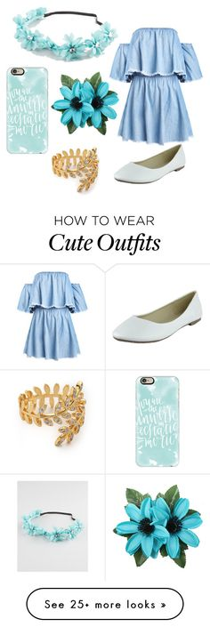 """Cute summer outfit"" by liza-ionova on Polyvore featuring Casetify, Full Tilt and Gorjana"