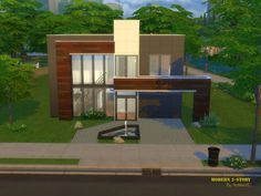 The Sims Resource: Modern 2 Story by ArchitectTC • Sims 4 Downloads