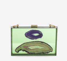 Ryan Kippel Green, Purple And Multicolor Clutch