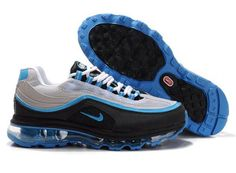 Womens Nike Air Max 24-7 Grey Black Blue AMFW0310