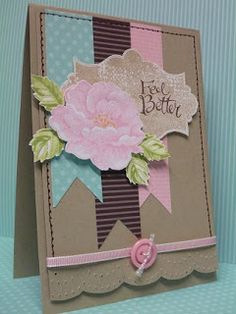 Stippled Blossoms, Sassy Salutations & Everything Eleanor stamps, Apothecary Accents Framelits & large Scallop Edgelits Essentials Paper Piercing Packmy sandbox