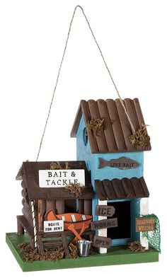 Sunset Vista Designs Bait and Tackle Wooden Birdhouse | Bass Pro Shops: The Best Hunting, Fishing, Camping & Outdoor Gear