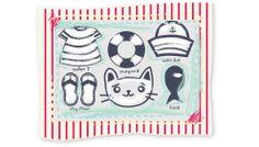 """Diseño de Colección """"Au Revoir"""" by nariasat. # kitty #preppy #sailor #beach #stripes"""
